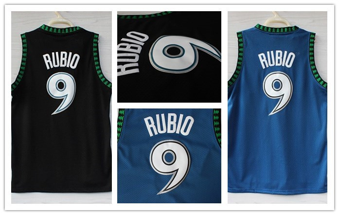 Wholesale Cheap Jersey.Online Buy Top Quality From China.Men's Minnesota Basketball Stitched Jerseys,Stephon Marbury,Ricky Rubio(China (Mainland))