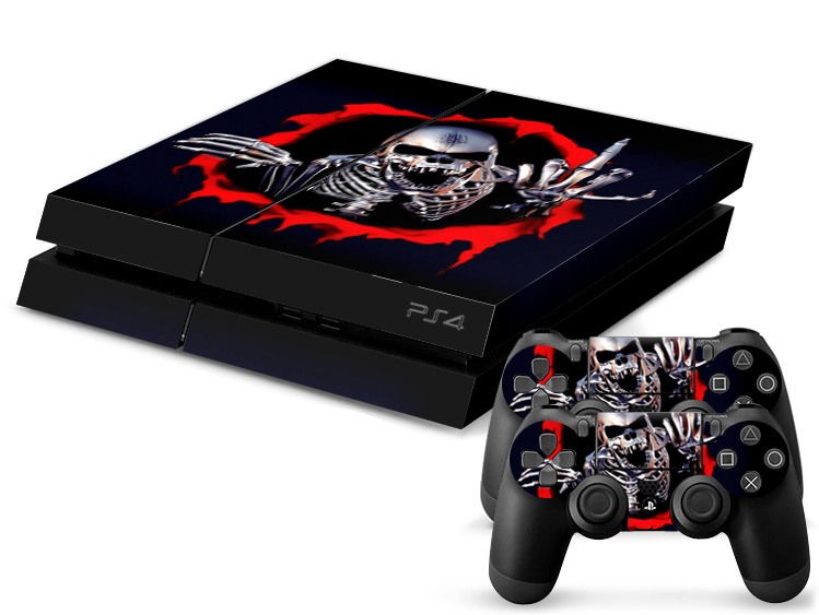 Low price for playstation 4 ps4 skull crossbones skin sticker for playstation 4 ps4 console - Playstation 2 console price ...