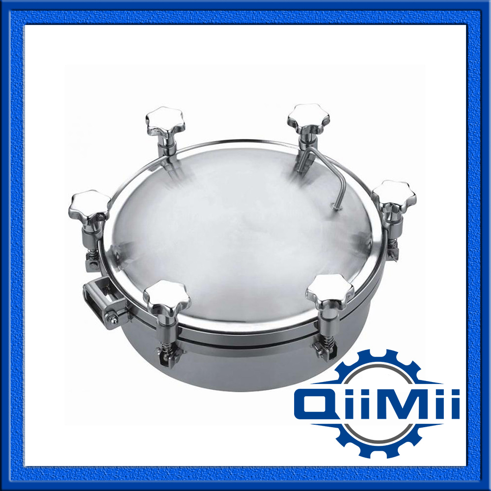 350mm SS304 stainless steel manhole cover,manway cover, Height:100mm(China (Mainland))