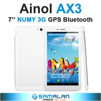 7'' Ainol NUMY 3G AX3 Tablet PC MTK8382 Quad Core 1GB RAM 16GB ROM GPS Bluetooth WCDMA WiFi Dual Cameras