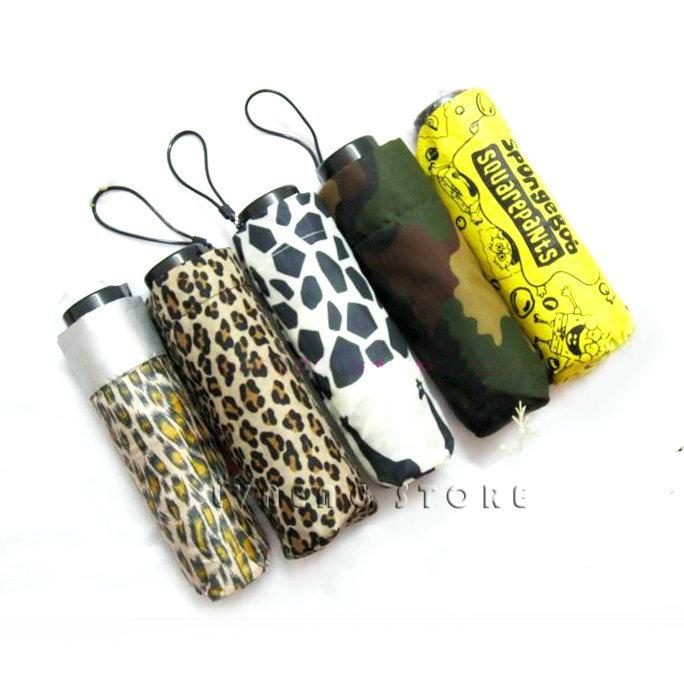 """Umbrella UV Fashion Five Folding Umbrella Leopard Camouflage SpongeBob Umbrella ""(China (Mainland))"