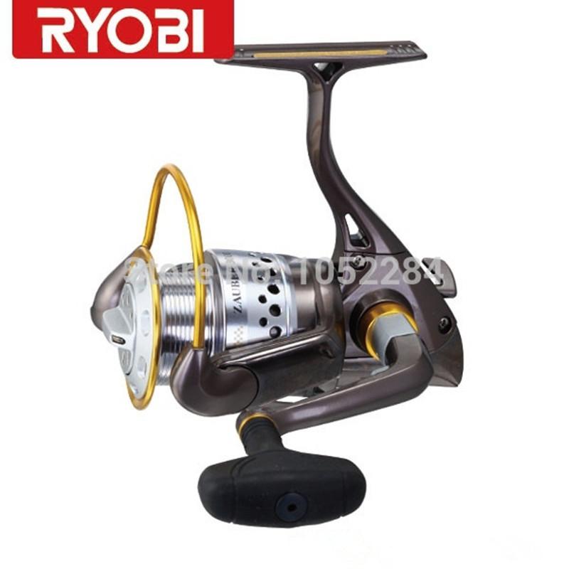 Фотография Free Shipping Original100% RYOBI ReelZAUBER 8+1BB/1000-4000 Size Spinning Fishing Reel Metal Wheel Molinete Peche Carretes Pesca