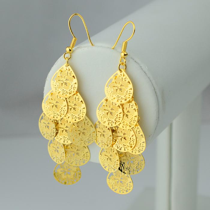 Women s earrings heart 18 k vacuum gold plated gp earring Trendy womens gifts 2015