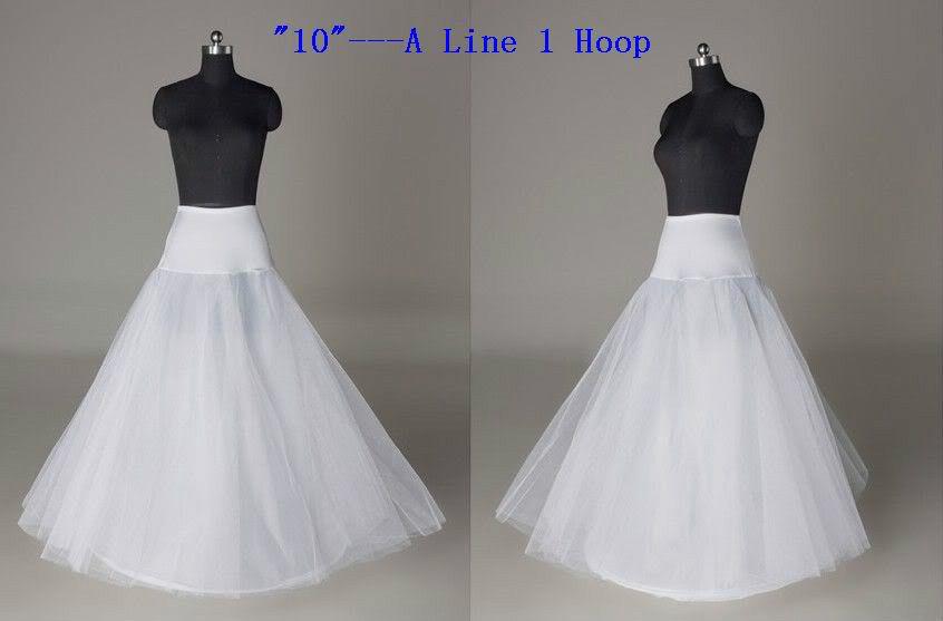 2015 Hot Sale 1 Hoop A Line Bone Petticoats For Wedding Dress Wedding Skirt Accessories