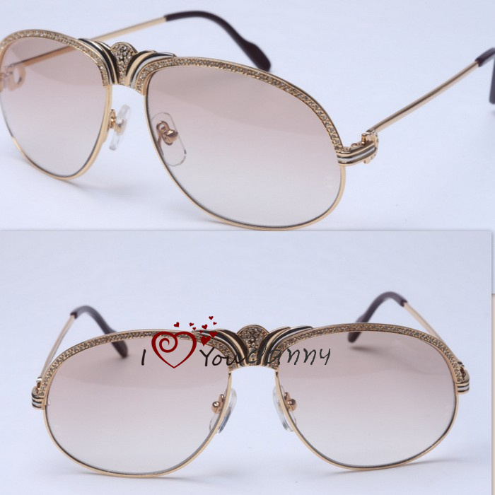 Female Male hot free shipping luxury diamond crown CT 1112762 mirror sunglasses limited edition size: 58-15-135mm(China (Mainland))