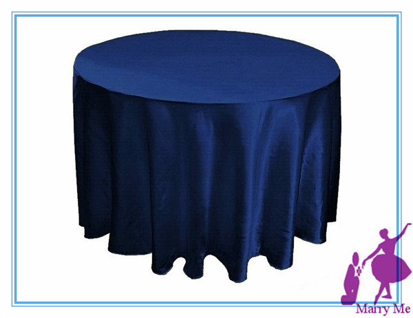 15pcs NAVY BLUE satin tablecloth for wedding decoration/polyester table cover(China (Mainland))