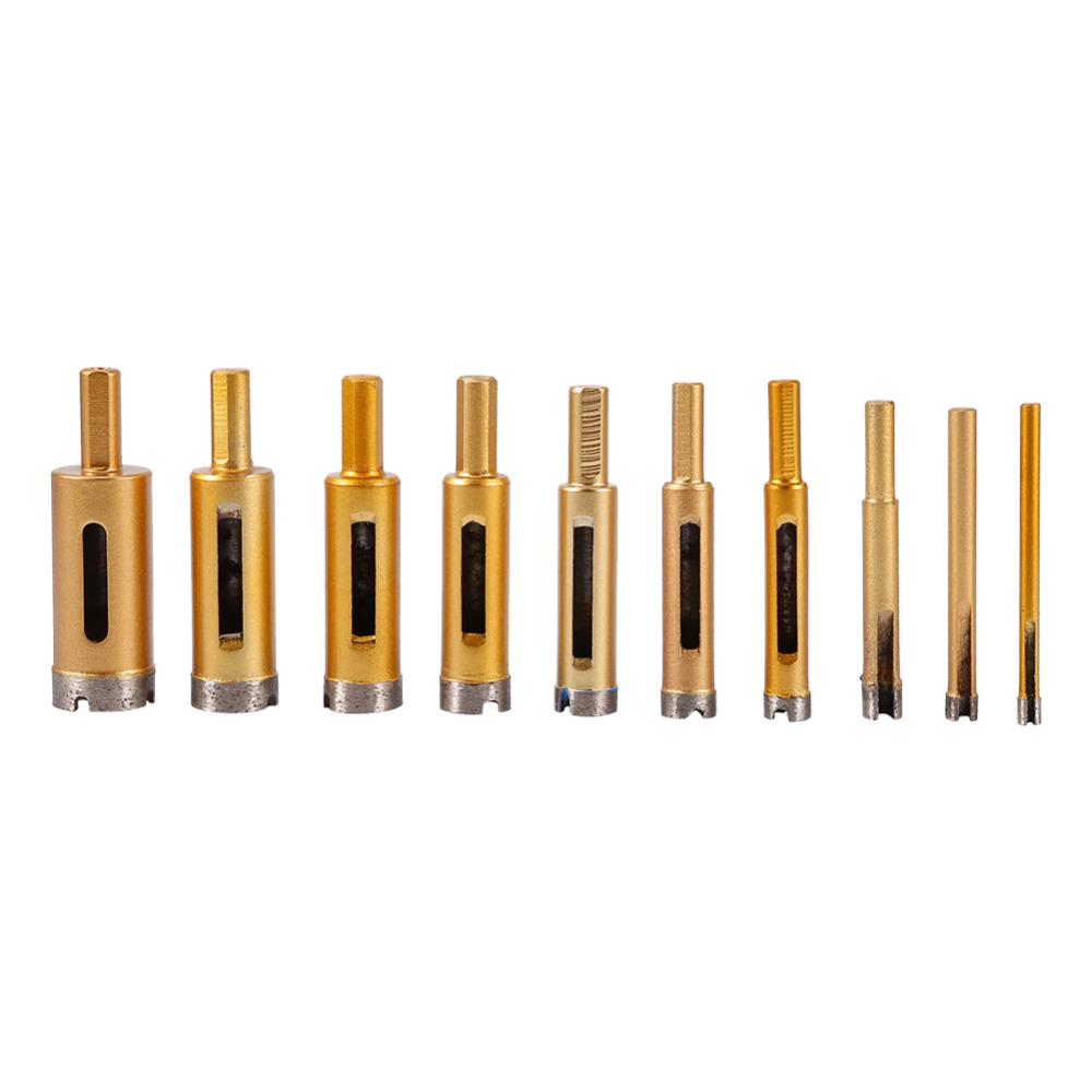 4mm diamond twist drill bit - 10pcs Set 6mm 25mm Diamond Drill Bits Hole Saw Tool Set For Ceramic Marble
