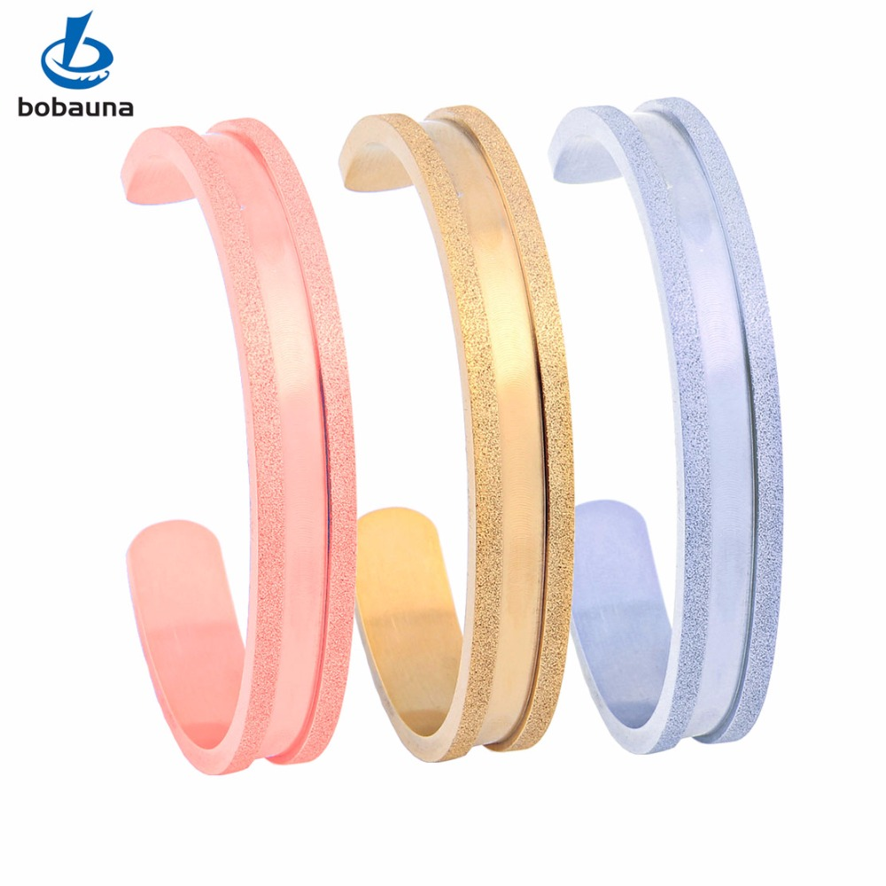 2016 newest novelty girls love jewelry, 18K gold plated 316L stainless steel Women's cuff bracelet opening hair tie bangles(China (Mainland))