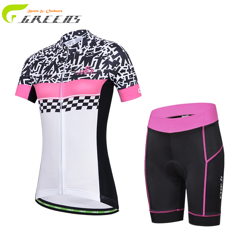 Gurensye brand Breathable Women Cycling Jersey short seleeve Clothing Mountain Bicycle Jerseys ike GEL Pad Maillot Ciclismo(China (Mainland))