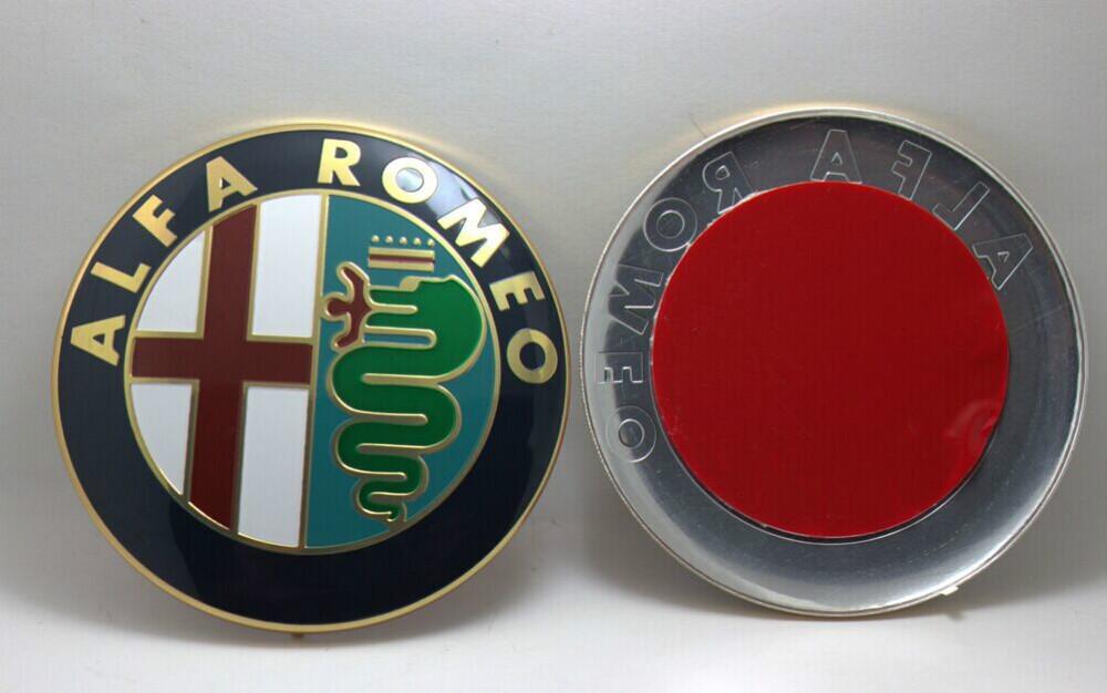 2PC Specials sale 7 4cm 74mm Car Logo emblem Badge sticker for ALFA ROMEO Mito 147