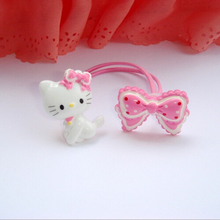 1 Piece 2015 Baby girl's styling tool hello kitty elastic hiar bands headwear accessories for women kids make they cute lovely