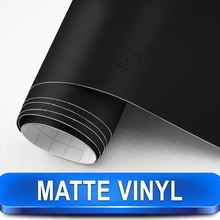 Matte Black Vinyl Wrap Sheet Car Sticker 1.52 x 30 m with Air Release Drains German Stock Free Shipping(China (Mainland))