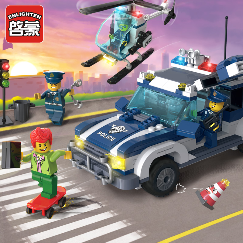 Hot Sales Tracking Police Action Figures Mini Figures Building Blocks Classic Toys Best Children Gift With