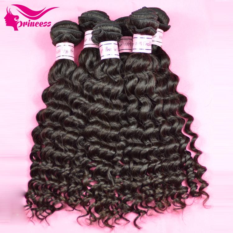 Brazilian Deep Wave brazilian deep curly virgin hair Human Hair Weave lot Natural colors - Princess products co.,LTD store
