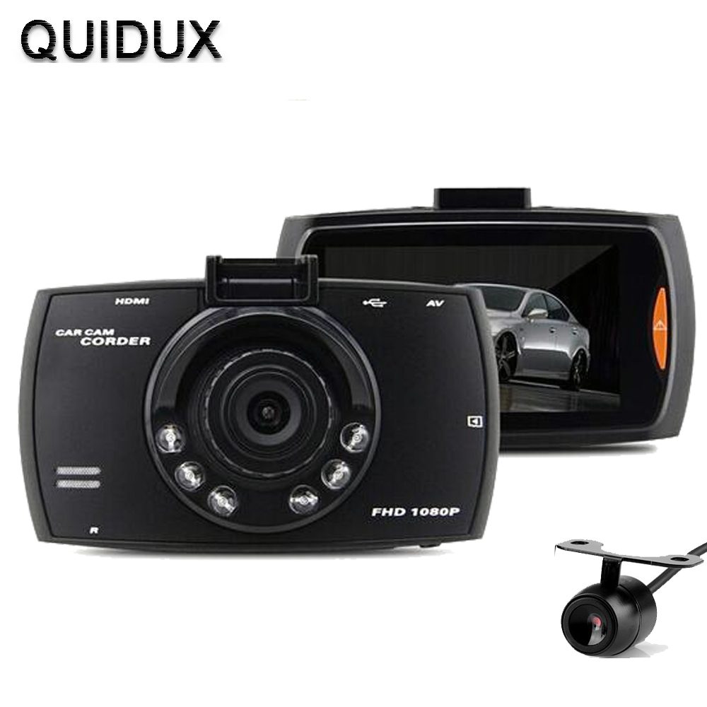 Car DVR Dual Camera Full HD 1080P Dash Cam Car DVR Video Camera Recorder Dual Camera Crash 1.2M CMOS sensor DVR Camera(China (Mainland))