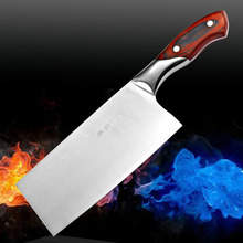 Stainless steel wooden handle kitchen kniive cooking tools Kitchen Accessories slicing vegetable knife handmade tool as gifts
