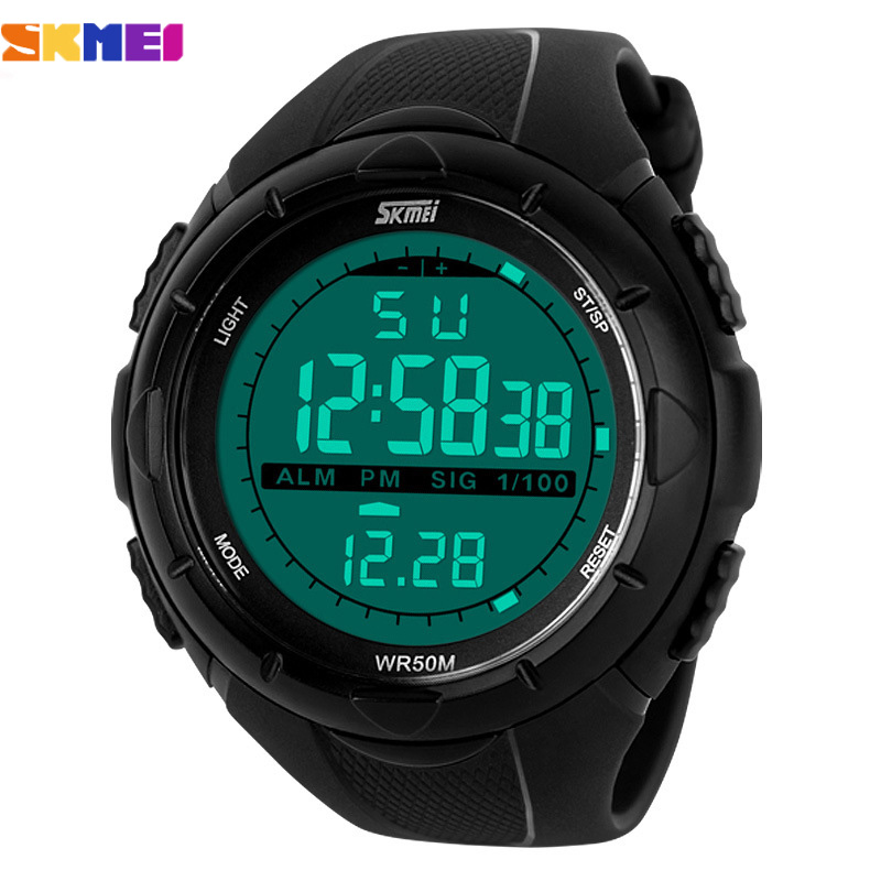 skmei brand mens led digital army watches 5atm