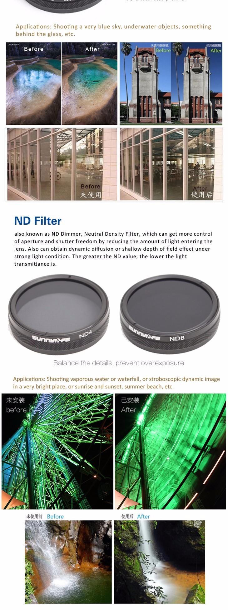 DJI Phantom 3/4 Accessory CPL Filter Circular Polarizer Filter for Phantom 4/3 Professional & Advanced & Standard free shipping
