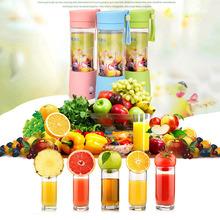 380ML Battery Power Bottle Fruit Juicer Blender Self Stirring Mug Juice Iced Tea with Thick Belt(China (Mainland))