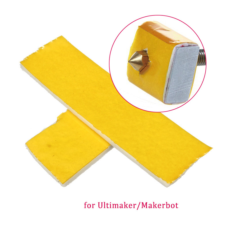 NEW 10PCS 2mm thick thickness 3d printer heating block cotton hotend nozzle heat insulation cotton for Ultimaker for Makerbot