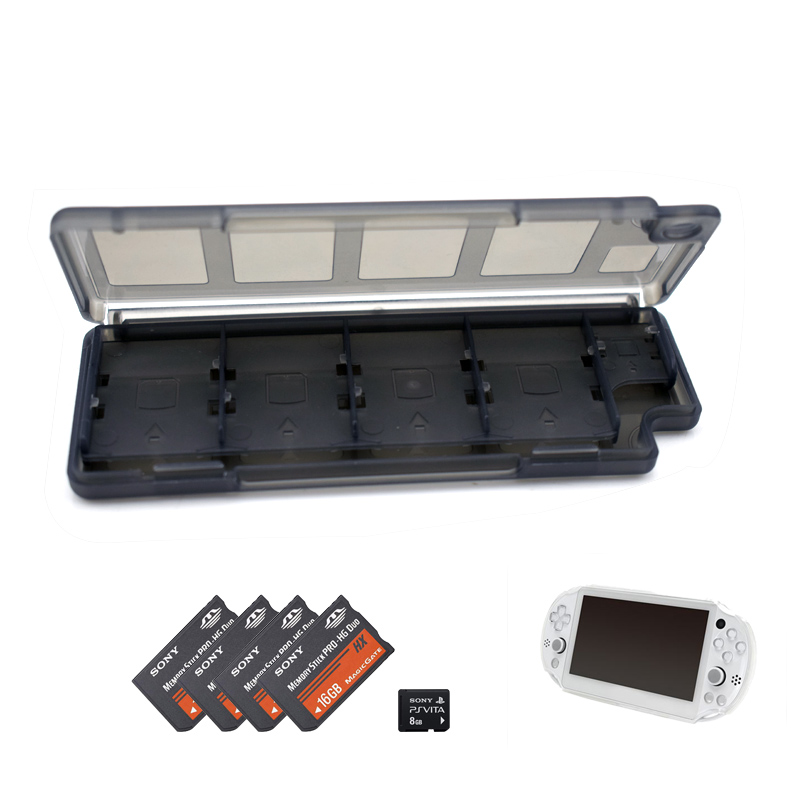 hot new high quality 10 in 1 Memory Game Card Clear Holder Case Storage Box for Sony PS Vita PSV