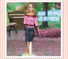 96 estilos para escolher Festival presentes para as meninas boneca de presente calças noite vestido de noiva terno bobtail roupas para Barbie boneca B