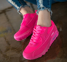 Women Shoes 2015 Fashion Red Wedge Sneakers Low Top Air Mesh Cozy Zapatos Mujer Sport Running Shoes Trainers Women sneakersS3153(China (Mainland))