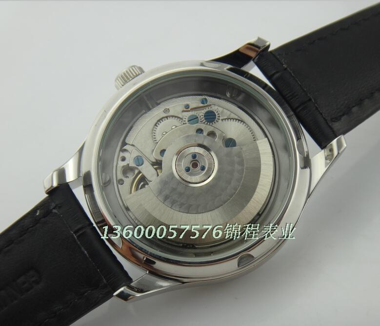43 мм PARNIS ST2530 энергии показывает Азии Автоматические Самостоятельно Ветер мужчины часы высокого качества Бизнес-часы