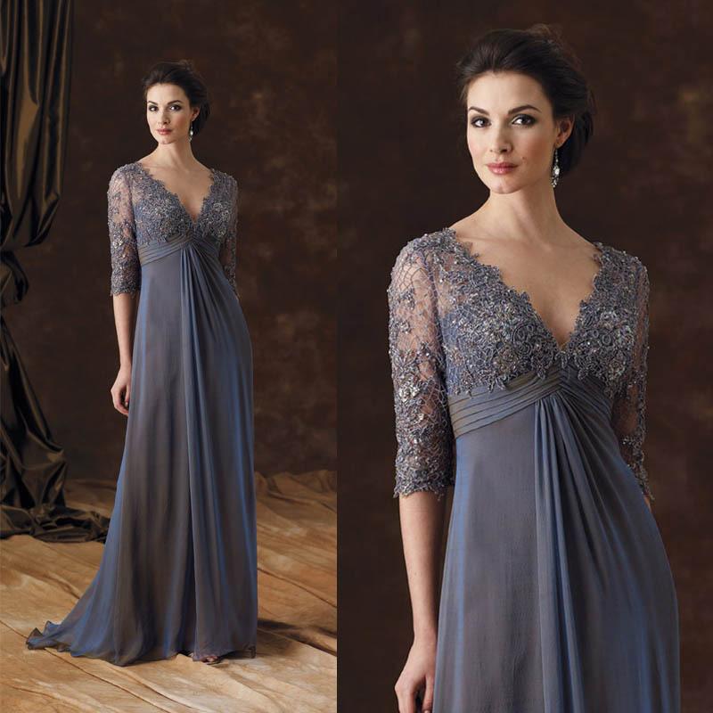 MB002 2015 Elegant Lace Appliqued Half Sleeves Grey