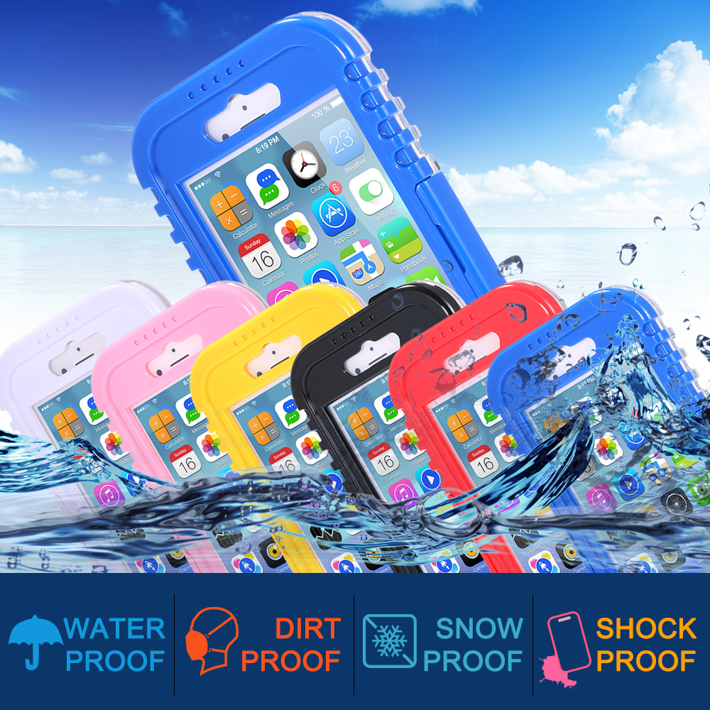 6S Plus New Version Waterproof Shockproof Dustproof Underwater Diving Hard Cases Cover For Apple iphone 6 Plus Shell Case(China (Mainland))