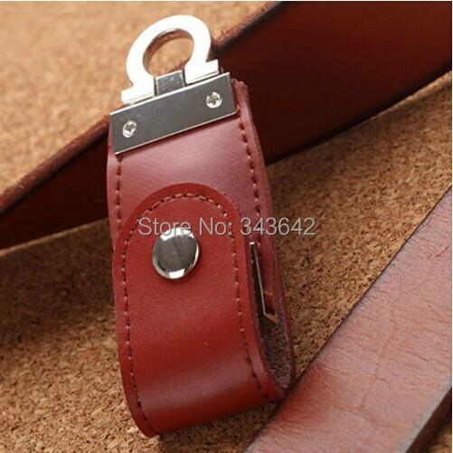 100% Genuine PU leather 32gb 64gb 8gb 16gb usb 2.0 flash driver 64gb pen drive u disk pendrive flash drive(China (Mainland))