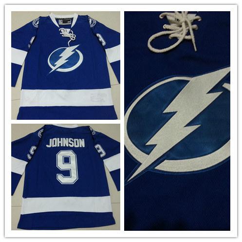 New! cheap Stitched blue youth Tampa Bay Lightning Ice Hockey Jersey kids 9 Tyler Johnson Lightning Jersey(China (Mainland))