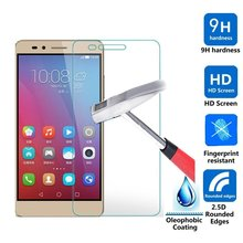 0.26mm Tempered Glass For Huawei P9 / P9 Max / P9 Lite Premium Ultra Thin Film Screen Protector Guard Case Cover 9H 2.5D Round(China (Mainland))