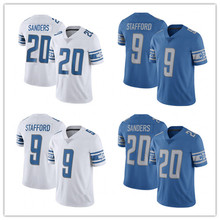 Men's 9 Matthew Stafford #20 Barry Sanders Jersey Embroidery Stitched 2017 Retired Player Limited Jersey(China (Mainland))