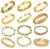 OPK WEDDING JEWELRY 10pcs/lot Luxury Gold Plated Bracelet Bridal Cuff Bangle Women Mixed Order Free Shipping