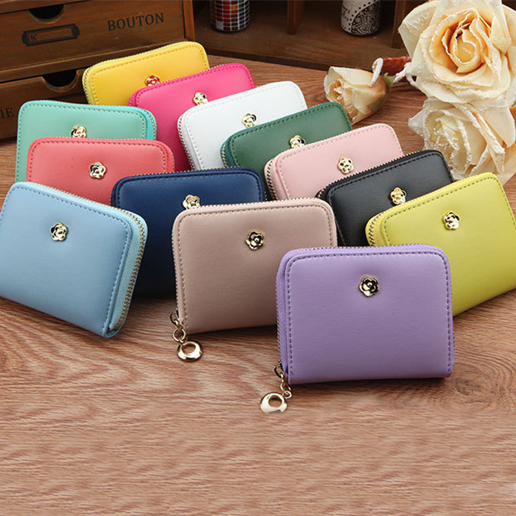 2015 New Arrival Women Wallets High Quality Synthetic Leather Zipper Lady Clutches Fashion Short Style Floral Girls Change Purse<br><br>Aliexpress
