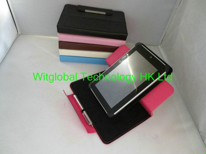 "Magic 360 Rotary LEATHER CASE Cover +Stylus+Film For 7"" Hisense Sero 7 Pro M471BSA Eken GT70XHD Tablet Shipping(China (Mainland))"