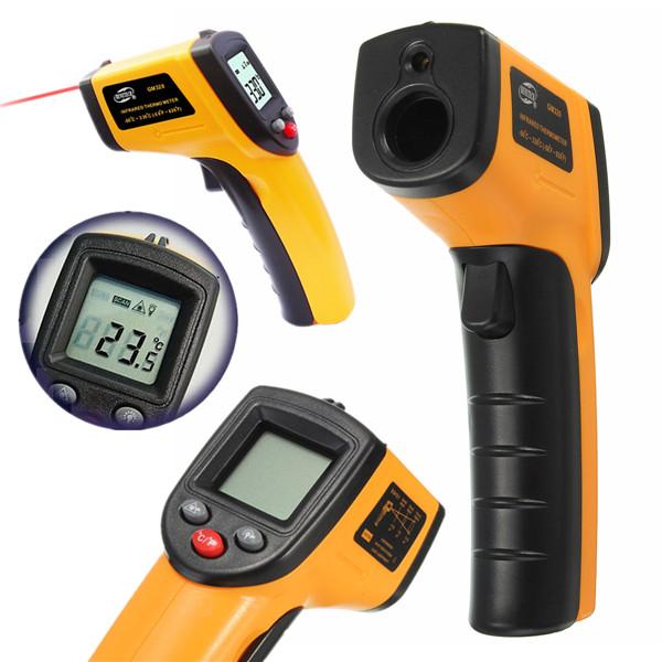 Non-Contact IR Infrared Thermometer LCD Display Digital Temperature Gun Temp Thermometer Laser Handheld(China (Mainland))