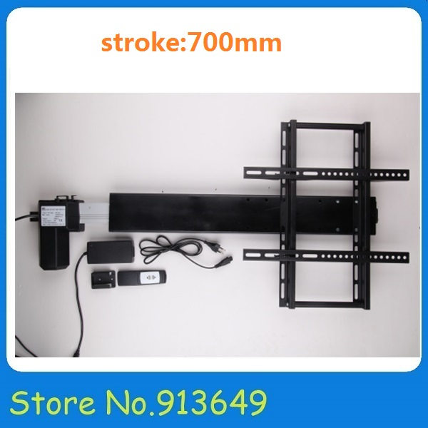 12/24V DC 100kgs force 25mm/s speed 700mm stroke linear actuator for automatic TV lift-1set<br><br>Aliexpress