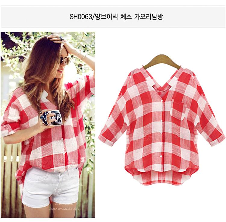 2016 Hot Sale Women Blouses Long Shirts Single Breasted font b Plaid b font Cotton Shirt