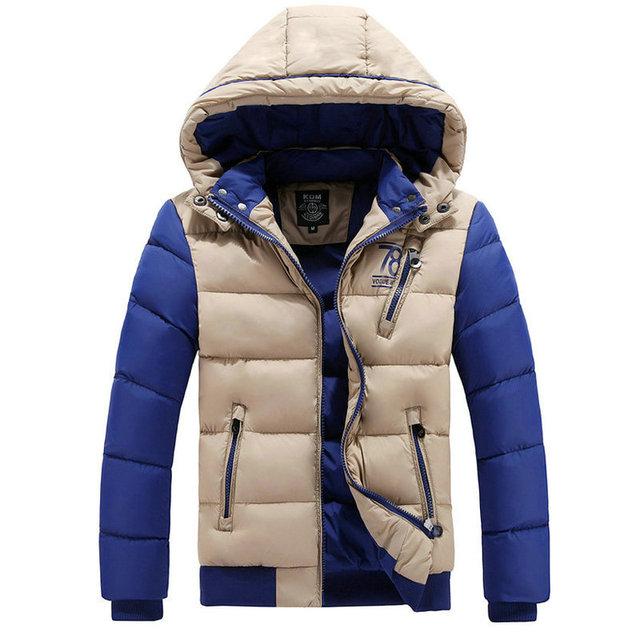 Горячая мода гуд зимнее пальто мужчины свободного покроя уменьшают подходящие юношей-подростков ...