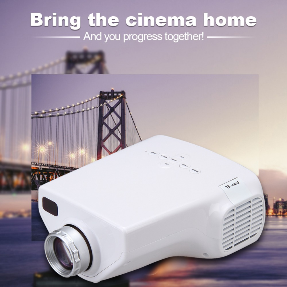 Фотография DBPOWER Portable E03 MINI Home Theater LED LCD Projector 50 Lumens USB VGA HDMI 1080P HDTV Better than UC40 Proyector