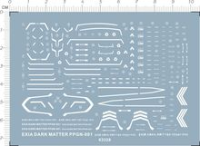 Special Detail Up Water Decal 1/144 HG Exia Dark Gundam Model Kit 63328