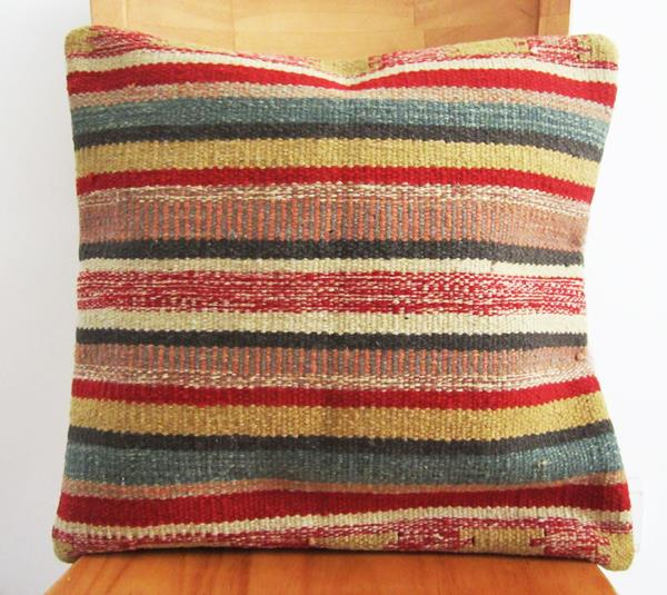 Pure wool hand woven KILIM jilimu exotic ethnic pillow cushion covers not included in the 43x43cm
