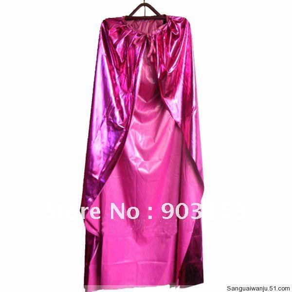 Wholesale 5Xpcs New Red Satin Cape Cloak masquerade super halloween dress + free shipping