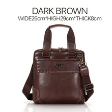 New Fashion Brand men handbags vintage brown leather briefcase Business Shoulder Bags high Quality leather laptop briefcase bag(China (Mainland))