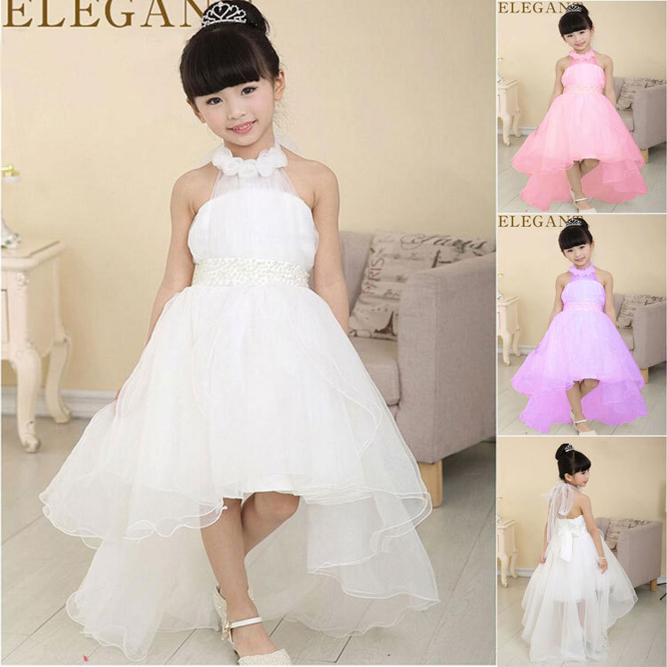 2015 flower girl dress for wedding party new style halter princess dresses children brand clothing kids formal clothes(China (Mainland))