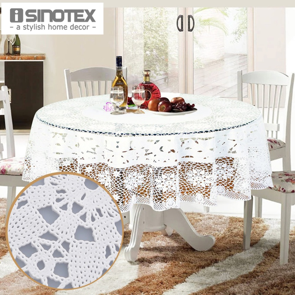 Party Tablecloth PVC 150cm/59'' Round Table Cloth Floral Waterproof Oilproof Dining Wedding Table Cover Overlay Hollow Out Grid(China (Mainland))