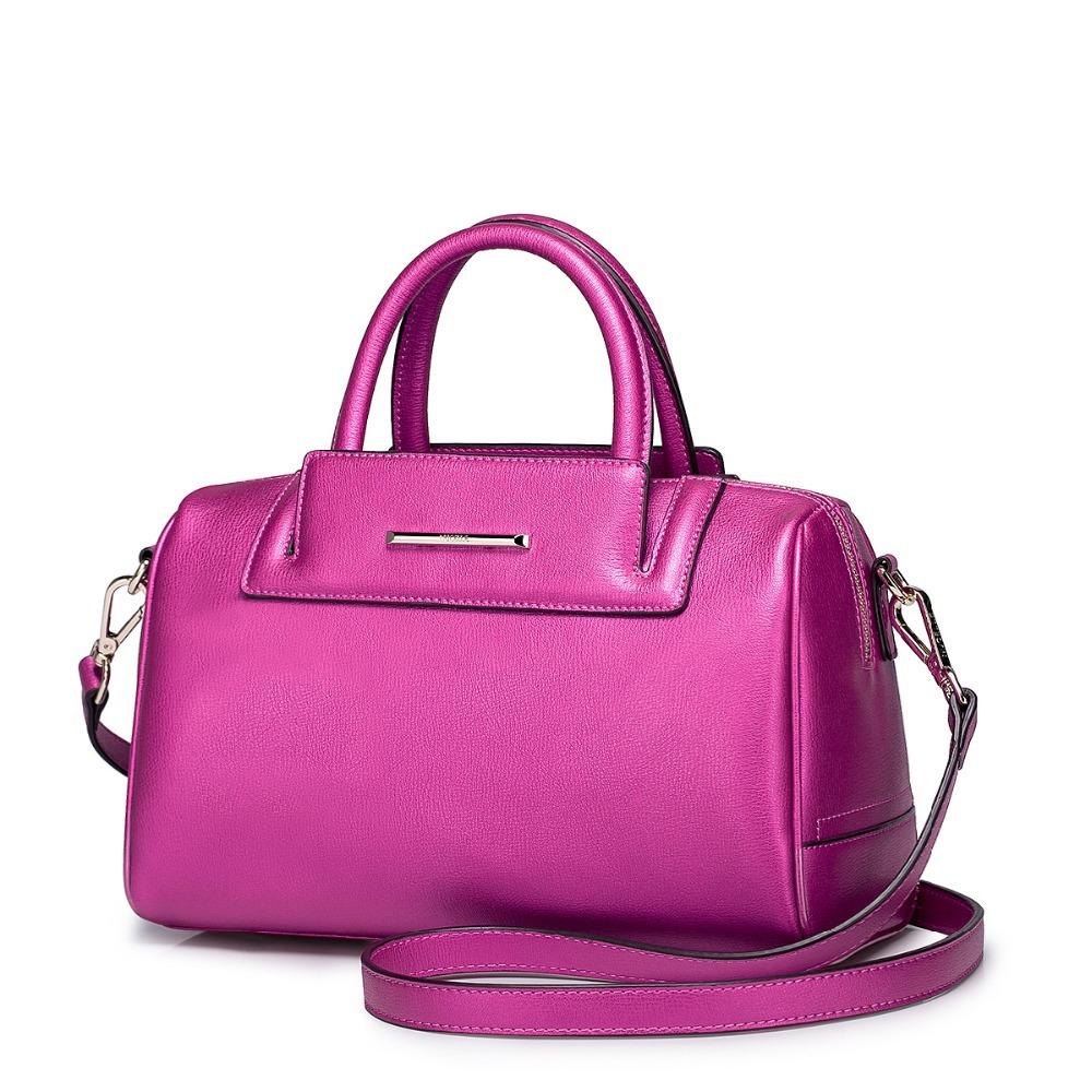 2015 New Fashion Women's Cowhide Real Genuine Leather brand Pillow Handbags Female Golden Office Messenger Cross body Bag