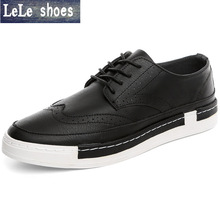 New 2016 Fashion Men's Casual Shoes Men Flats Graffiti Chaussure Breathable Lace-up PU Leather Bullock Zapatos Sapatos Yeezy(China (Mainland))